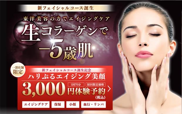 「ハリぷるエイジング美顔」3,000円(税込)